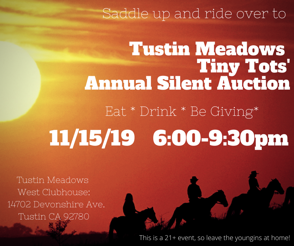 Tustin Meadows Tiny Tots Auction Flyer 2019